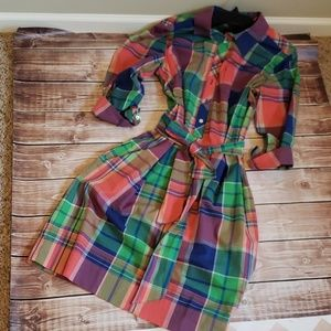 Talbots belted shirt dress